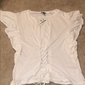 White Tied dress shirt Size XS